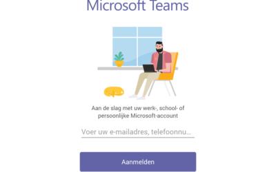 Microsoft Teams App voor persoonlijk gebruik